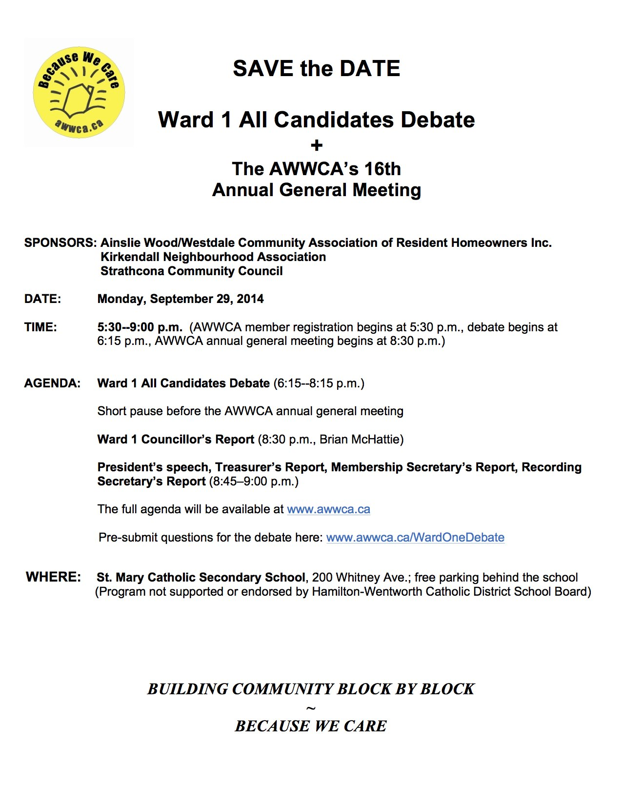Ward 1 all candidates debate the awwcas 16th annual general this pronofoot35fo Gallery