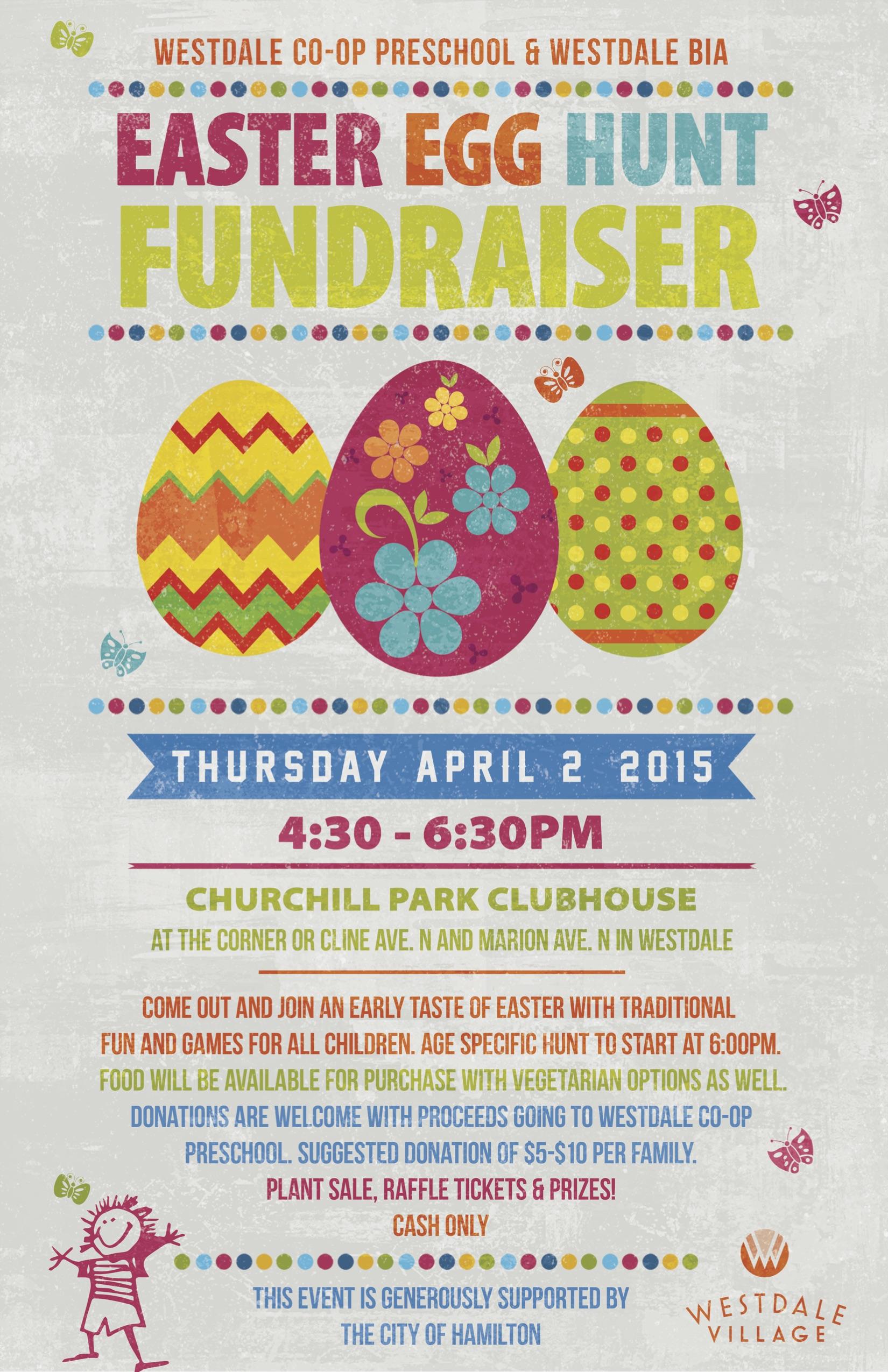 easter egg hunt fundraiser presented by westdale co