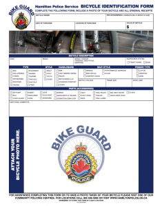 HPS Bicycle Identification Form - thumbnail