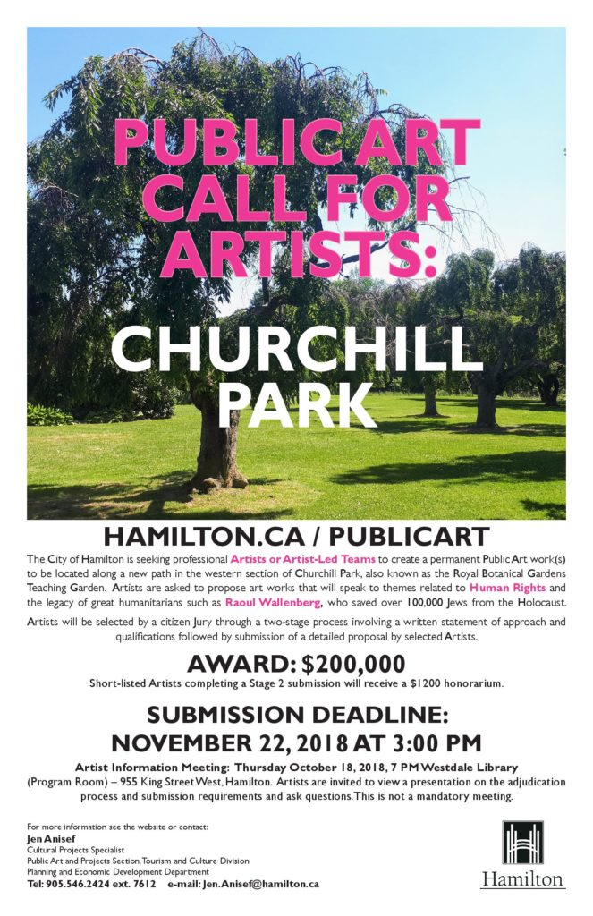 Call for artists for Churchill Park public art | A W W C A